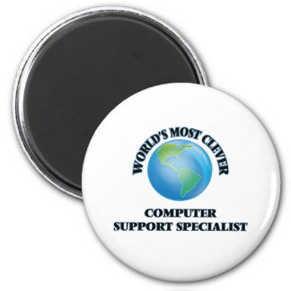 World's Most Clever Computer Support Specialist Magnet
