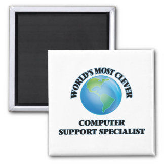 World's Most Clever Computer Support Specialist Fridge Magnets