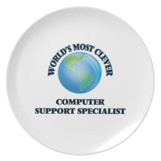World's Most Clever Computer Support Specialist Plates