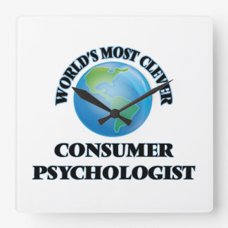 World's Most Clever Consumer Psychologist Square Wallclocks