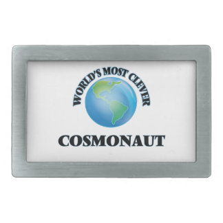 World's Most Clever Cosmonaut Rectangular Belt Buckles