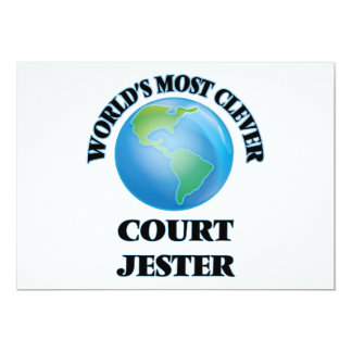 World's Most Clever Court Jester 5x7 Paper Invitation Card