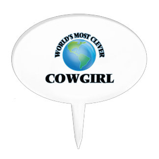World's Most Clever Cowgirl Cake Topper