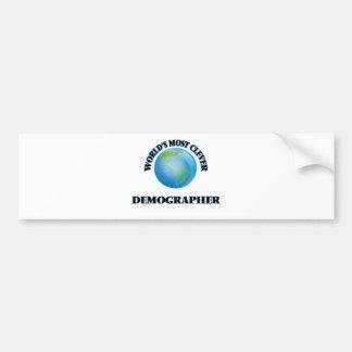 World's Most Clever Demographer Car Bumper Sticker