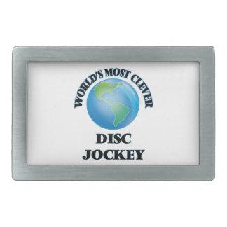 World's Most Clever Disc Jockey Rectangular Belt Buckles