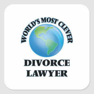 World's Most Clever Divorce Lawyer Square Sticker