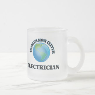 World's Most Clever Electrician 10 Oz Frosted Glass Coffee Mug
