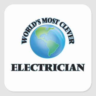 World's Most Clever Electrician Square Sticker