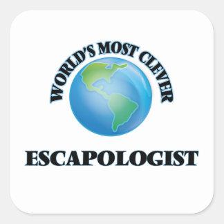 World's Most Clever Escapologist Square Sticker