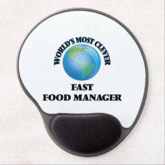 World's Most Clever Fast Food Manager Gel Mousepad