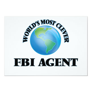 World's Most Clever Fbi Agent 5x7 Paper Invitation Card