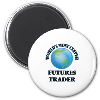 World's Most Clever Futures Trader 2 Inch Round Magnet
