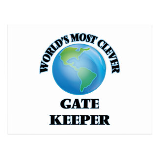 World's Most Clever Gate Keeper Postcard