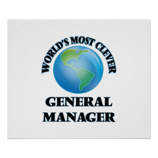 World's Most Clever General Manager Poster