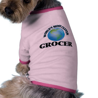 World's Most Clever Grocer Dog T Shirt