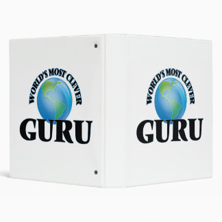 World's Most Clever Guru 3 Ring Binder
