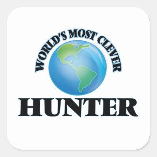 World's Most Clever Hunter Square Sticker