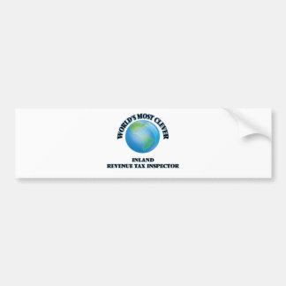 World's Most Clever Inland Revenue Tax Inspector Car Bumper Sticker