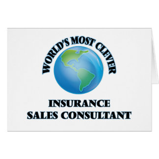 World's Most Clever Insurance Sales Consultant Card