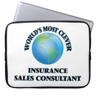 World's Most Clever Insurance Sales Consultant Laptop Sleeves