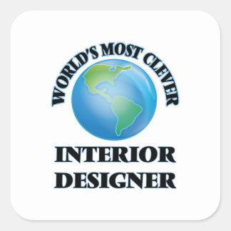 World's Most Clever Interior Designer Square Sticker