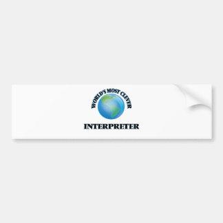 World's Most Clever Interpreter Car Bumper Sticker