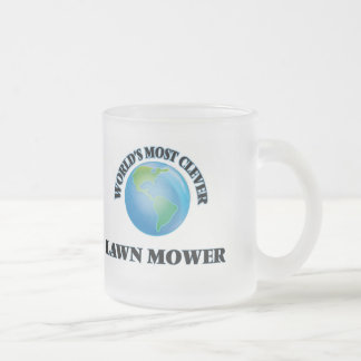 World's Most Clever Lawn Mower 10 Oz Frosted Glass Coffee Mug