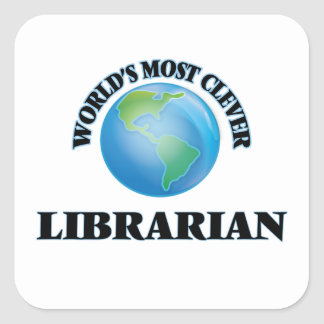 World's Most Clever Librarian Square Stickers