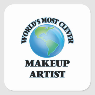 World's Most Clever Makeup Artist Square Sticker