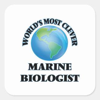 World's Most Clever Marine Biologist Square Sticker