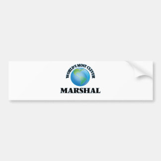 World's Most Clever Marshal Bumper Sticker