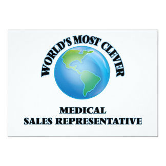 World's Most Clever Medical Sales Representative Card