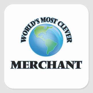 World's Most Clever Merchant Square Sticker