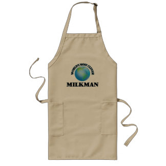 World's Most Clever Milkman Long Apron