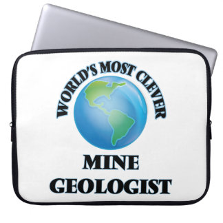 World's Most Clever Mine Geologist Laptop Computer Sleeve