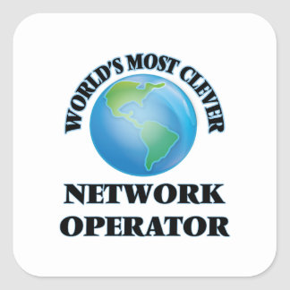 World's Most Clever Network Operator Square Sticker