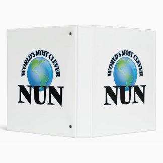 World's Most Clever Nun Vinyl Binder