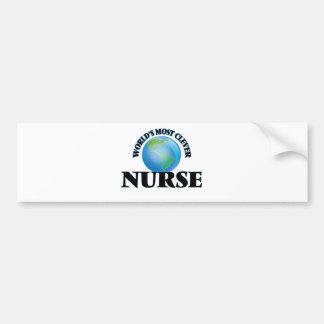 World's Most Clever Nurse Bumper Stickers