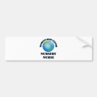 World's Most Clever Nursery Nurse Bumper Stickers