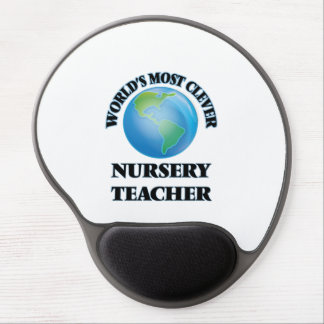 World's Most Clever Nursery Teacher Gel Mouse Pad