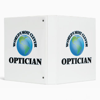 World's Most Clever Optician 3 Ring Binders