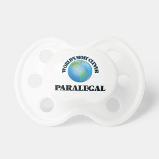 World's Most Clever Paralegal BooginHead Pacifier