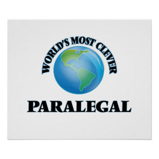 World's Most Clever Paralegal Posters