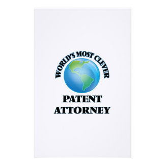 World's Most Clever Patent Attorney Personalized Stationery