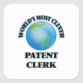 World's Most Clever Patent Clerk Square Sticker