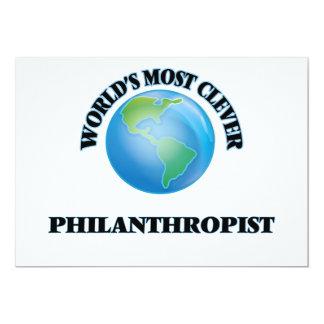 "World's Most Clever Philanthropist 5"" X 7"" Invitation Card"