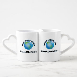 World's Most Clever Philologist Couples' Coffee Mug Set