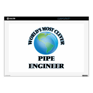 """World's Most Clever Pipe Engineer 17"""" Laptop Decal"""