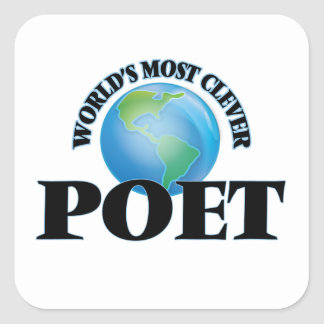 World's Most Clever Poet Square Stickers