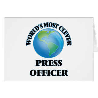 World's Most Clever Press Officer Cards